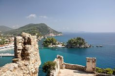Venetian Castle in Parga, Greece -- so beautiful to be there, day or night! I can't wait to go back!