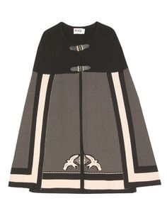 Alice by Temperley Knit Cape with Pattern