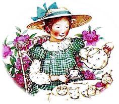 tea time...Holly Hobbie