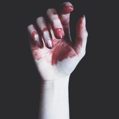 """Yet who would have thought the old man to have had so much blood in him?""Act 5 Scene 1 she sees blood on the castle floor but she was dreaming but she still thinks about what she did."