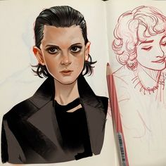 Bitchin' - Eleven and Mike Wheeler from Stranger Things art