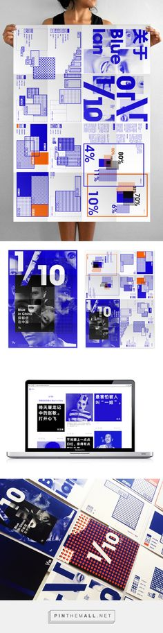 1/10 Blue on Behance... - a grouped images picture - Pin Them All