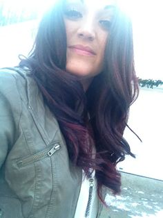 Red ombre on dark hair