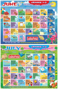 Now For Two Months Of Summer Activity Ideas Grades 1 3 Preschool