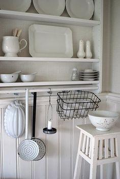 White kitchen decor - thrift and vintage finds
