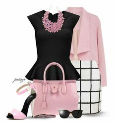 Super skirt outfits curvy shoes Ideas Curvy fashion - African Styles for Ladies Curvy Outfits, Classy Outfits, Chic Outfits, Pink Outfits, Pretty Outfits, Work Fashion, Fashion Looks, Curvy Fashion, Looks Chic
