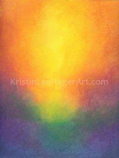 Carte de voeux de Sunrise par KristinLeeHagerArt sur Etsy, $3.50
