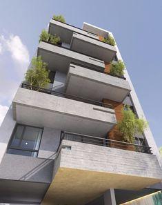 Residential Building Design, Architecture Building Design, Home Building Design, Building Facade, Facade Design, Exterior Design, Modern Architecture, Condominium Architecture, Studio Loft