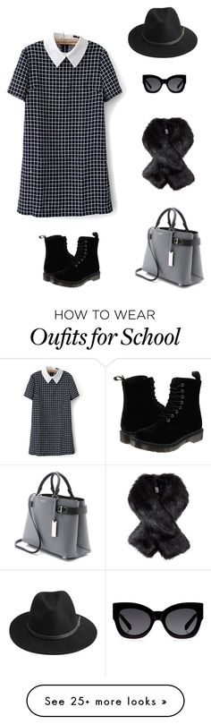 """School days"" by jarvis-kat on Polyvore featuring BeckSöndergaard, Karen Walker, Michael Kors and Dr. Martens"