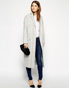 Enlarge ASOS Duster Coat In Check