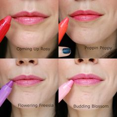 Lip swatches of the Clinique Baby Tints