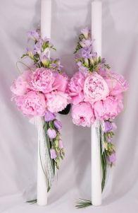 lumanari nunta - Google Search Flower Decorations, Table Decorations, Orthodox Wedding, Peonies, Flower Arrangements, Wedding Planner, Wedding Flowers, Dream Wedding, Floral Wreath