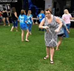 Lol...she definitely dances to the beat of her own drum! :)