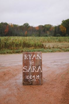 Rustic Wood Wedding Sign