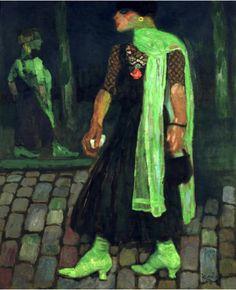 El arcaico - Frantisek Kupka (se trata de un travesti prostituto? nótese el tamaño de las manos y los pies)
