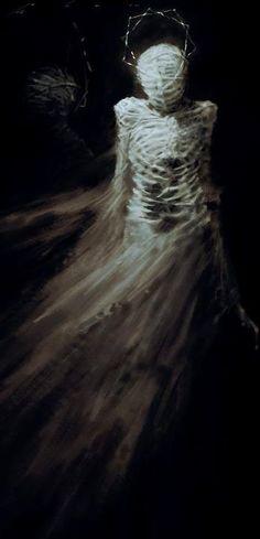 The Skeleton Dress, 1938 Elsa Schiaparelli and Salvador Dali.Dali is great! Dark Fantasy, Fantasy Art, Fantasy Paintings, Art Conceptual, Skeleton Dress, Elsa Schiaparelli, My Demons, Foto Art, Horror Art