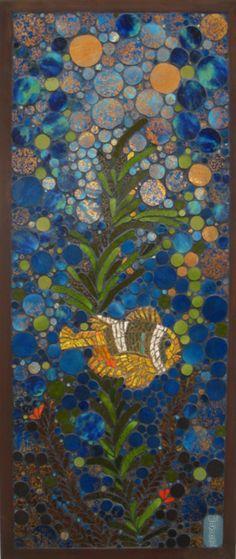 midcentury mosaic tile art