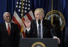 President Trump speaks at the Department of Veterans Affairs