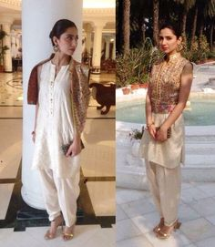 Here is the smart collection of Shalwar Kameez Designs wear by gorgeous Mahira Khan. See Mahira Khan Shalwar Kameez Pictures Here Indian Attire, Indian Wear, Pakistani Outfits, Indian Outfits, Modest Dresses, Casual Dresses, Casual Clothes, Mahira Khan Dresses, Desi Clothes