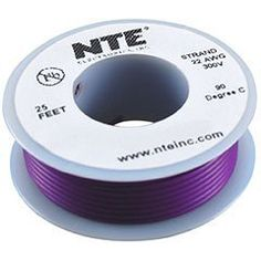 NTE Stranded 24 AWG Hook-Up Wire Violet 25 ft. by NTE. $4.56. NTE stranded 24 AWG violet hook-up wire is perfect for point-to-point internal wiring applications.