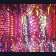 .@comtessacalifornia | Friendship bracelets destroyed lives. #friendshipbracelets #90s #color #neon ...