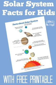 Fun Solar System Facts for Kids - Itsy Bitsy Fun - Individual planet fact sheets. Space Activities, Science Activities, Science Projects, Solar System Activities, Preschool Science, Camping Activities, Science Ideas, Science Lessons, Teaching Science