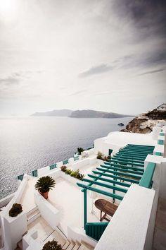 View from Fira, Santorini, Greece /