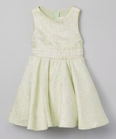 Another great find on #zulily! Mint Bow A-Line Dress - Toddler & Girls #zulilyfinds