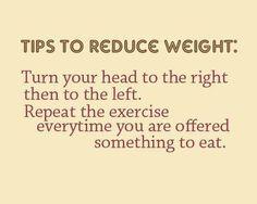 Tip to reduce weight #health #diet #joke
