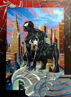 Black Spider-man Comic Art