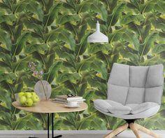 Very unusual, Banana Leaf / Jungle Design, Paste the Wall, Solid Vinyl Wallpaper in Casa, arredamento e bricolage, Bricolage e fai da te, Materiali, Carta da parati e accessori, Rotoli e fogli | eBay