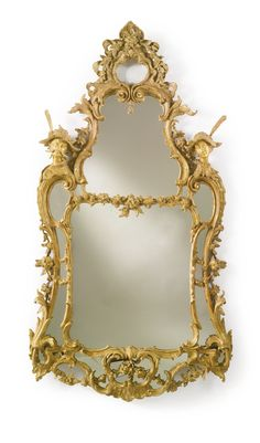 An important pair of George II giltwood pier mirrors attributed to Matthias Lock circa 1750 Sotheby's