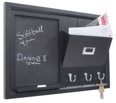 1st Apartment, Couples First Apartment, Apartment Ideas, Chalk Holder, Large Chalkboard, Apartment Checklist, Mail Holder, Home Office Storage, Key Hooks