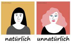natürlich unnatürlich Adjektive Deutsch deutschlernerblog