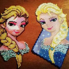 Elsa - Frozen perler beads by crankupcreations