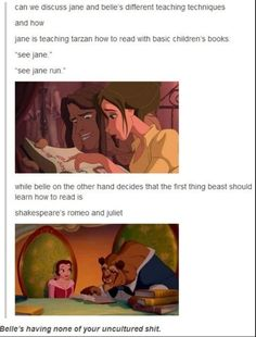 When Belle didn't mess around when it came to teaching