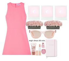 """Pink #26 (Kayla)"" by tori-kaylabeauty ❤ liked on Polyvore featuring Elizabeth and James, Oliver Peoples, L'Oréal Paris, Rimmel, Kate Spade and adidas"