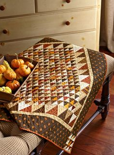 """American Patchwork & Quilting October 2011 - I just like fall colors and tiny 1.25"""" squares"""