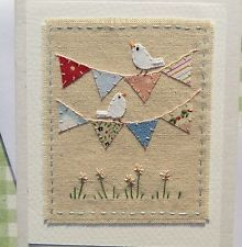 Item image Fabric Cards, Fabric Postcards, Paper Cards, Diy Cards, Patchwork Cards, Sewing Cards, Hand Made Greeting Cards, Free Motion Embroidery, Creative Cards