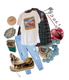 """Acid Dad"" by clara-joy ❤ liked on Polyvore featuring Delfina, Converse, indie, Punk, grunge, art and aesthetic"