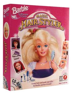 Barbie Magic Hair Styler was on of my favvvvorite games Right In The Childhood, 90s Childhood, Childhood Memories, Barbie Makeup, Barbie Hair, Barbie Dolls, Barbie Store, Teen Girl Hairstyles, 90s Girl