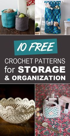 diytotry:  10 Free Crochet Patterns for Storage and Organization   http://ift.tt/1ZkWTzD
