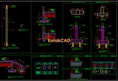 Gambar AutoCAD: Detail Pondasi Tiang Pancang dwg | KotakCAD