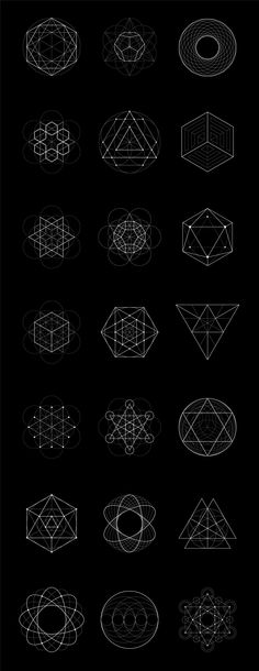 REFERENTES: Diseño Geométrico #SacredGeometry Sacred Geometry: 40 Items by kloroform on Creative Market