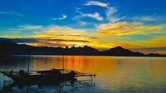 sunset in komodo's island