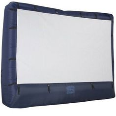 Outdoor inflatable movie screen with  storage bag