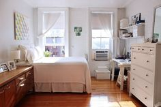 I absolutely love this studio apartment! - Jacqueline's Bright & Airy West Village Studio House Tour | Apartment Therapy @tracy parker
