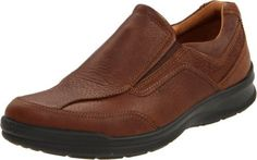 ECCO Men's Remote Slip-On Loafer ECCO. $69.99. Partially leather lined. Uppers of naturally oily leather. Directed injected one component PU outsole. leather. Manmade sole. Highly breathable and moisture absorbent lining. Removable leather covered insile with 7mm ECCO comfort fiber system