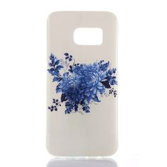 Coque TPU Samsung Galaxy S7 Fleurs Bleues