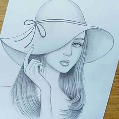 Pencil Drawing Images, Pencil Drawings Of Girls, Girly Drawings, Colorful Drawings, Disney Drawings Sketches, Girl Drawing Sketches, Art Drawings Sketches Simple, Easy Love Drawings, Art Drawings Beautiful